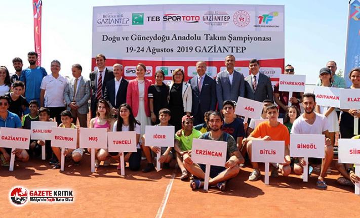 Doğu ve Güneydoğu Anadolu Tenis Şampiyonası, Gaziantep'te başladı