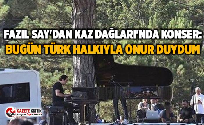 Fazıl Say'dan Kaz Dağları'nda konser:...