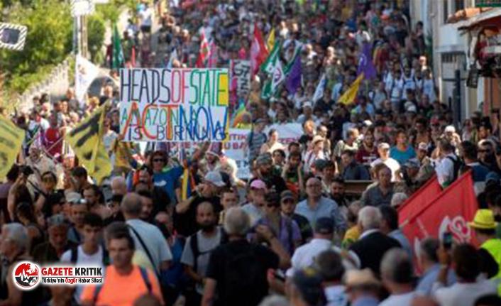 """Fransa'da G7 protestoları: """"İklim katedral olsaydı onu çoktan kurtarmış olurduk"""