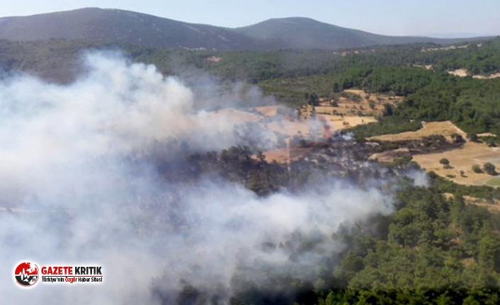 İzmir'de iki ayrı noktada orman yangını; yerleşim yerleri boşaltıldı