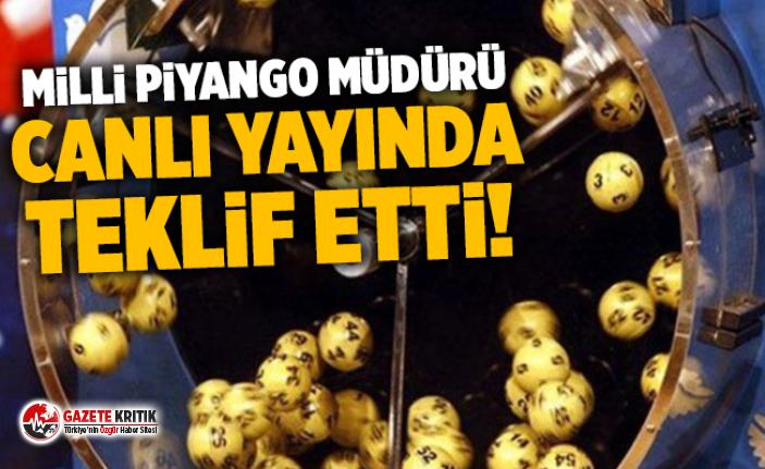 Milli Piyango Müdürü canlı yayında teklif etti !