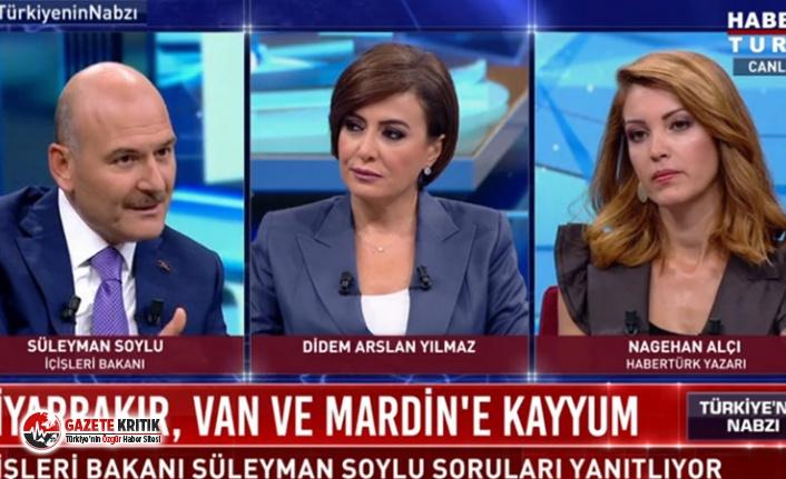 Nagihan Alçı'nın, Süleyman Soylu'ya sorduğu kayyım soru gündem oldu: Bu biraz tahrik edici bir soru