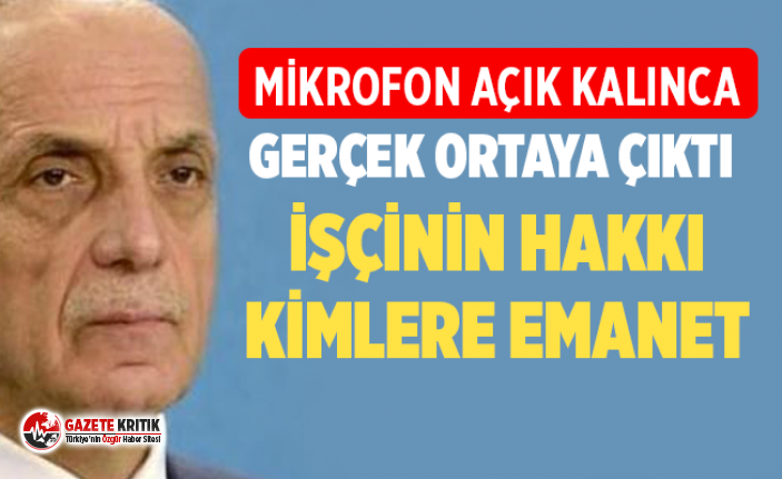 Türk-İş Başkanı Ergün Atalay'dan tepki çeken...