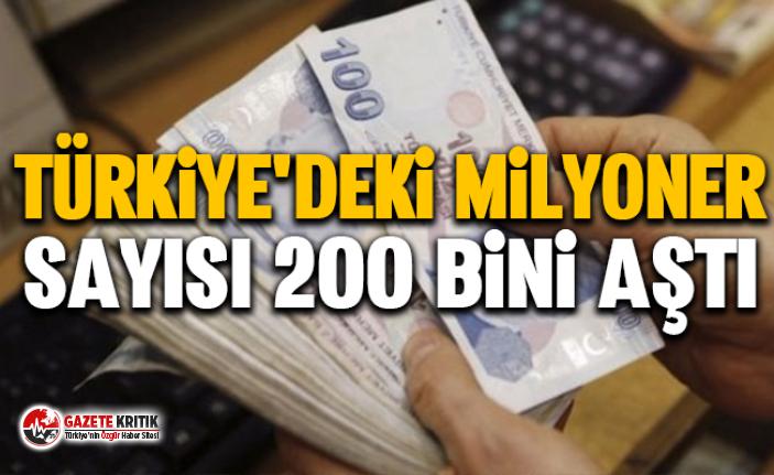 Türkiye'deki milyoner sayısı 200 bini aştı