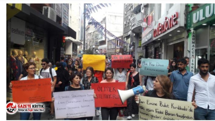 """""""Yaşamak istiyoruz!"""": Emine Bulut'un cinayetine karşı çok sayıda ilde protestolar düzenleniyor"""