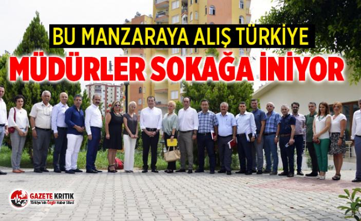 Yenişehir'de müdürler sokağa iniyor