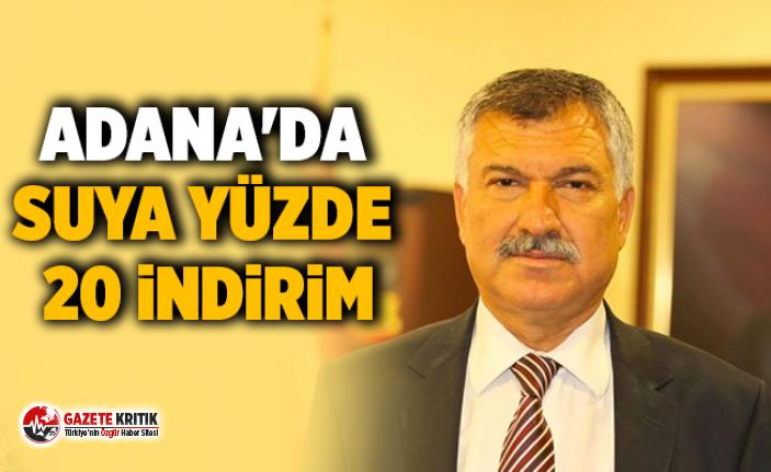 Adana'da suya yüzde 20 indirim