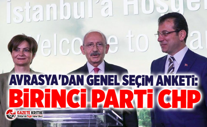 Avrasya'dan genel seçim anketi: Birinci parti CHP