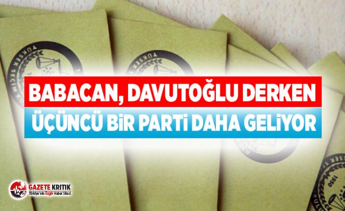 Babacan, Davutoğlu derken üçüncü bir parti daha...