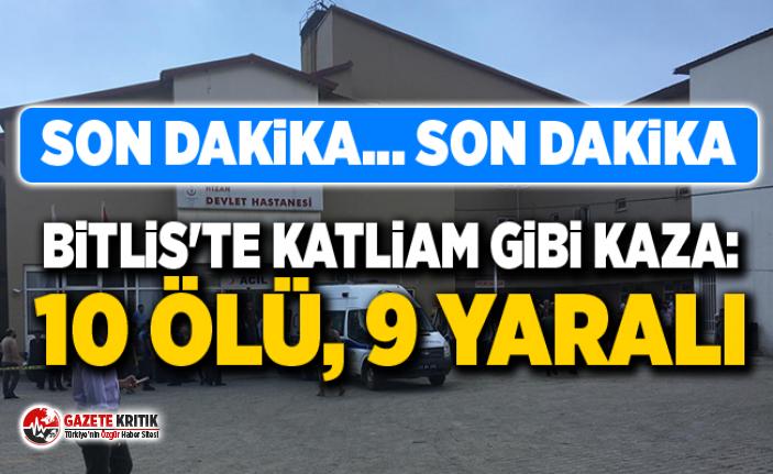 Bitlis'te bir minibüs şarampole yuvarlandı:...