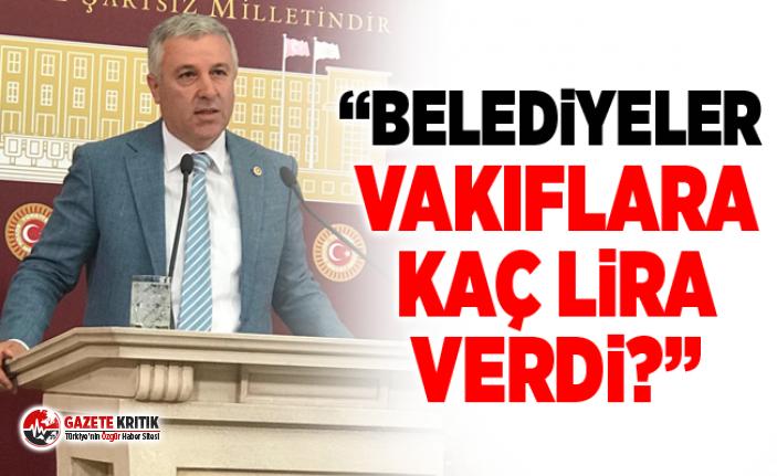 CHP'Lİ ÇETİN ARIK BELEDİYELERİN VAKIFLARLA...