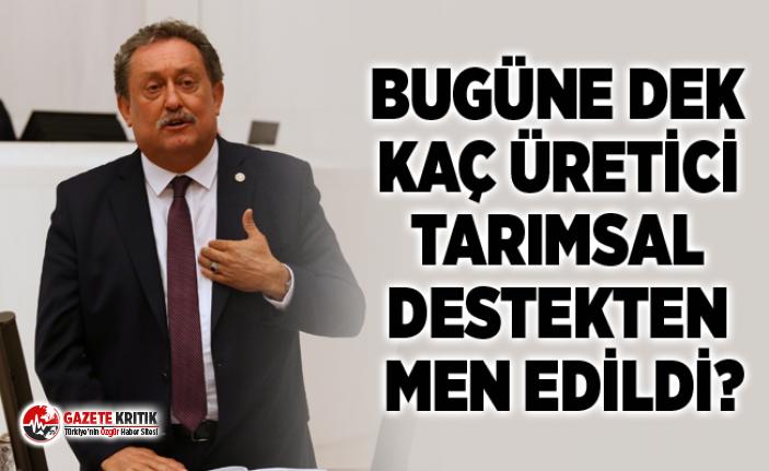 CHP'Lİ ÖZER: ELEŞTİREN ÇİFTÇİYE KESİLEN...