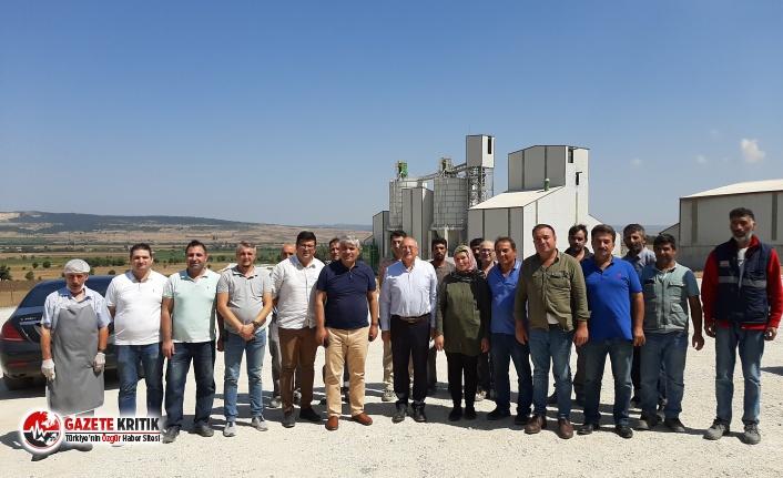 CHP'li Çakırözer İnönü Çimento Fabrikası'nı ziyaret etti