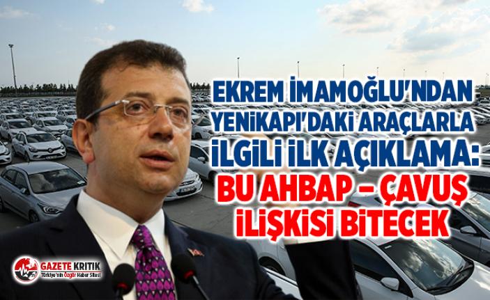 Ekrem İmamoğlu'ndan Yenikapı'daki araçlarla...