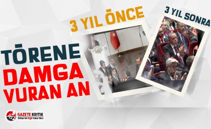 Erdoğan, Metin Feyzioğlu'nu alkışladı