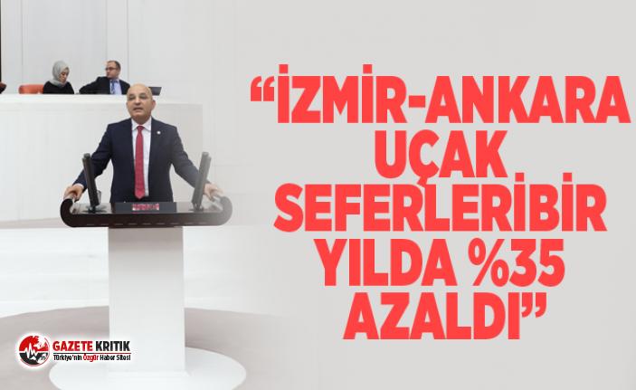 """""""İZMİR-ANKARA UÇAK SEFERLERİ BİR YILDA %35..."""