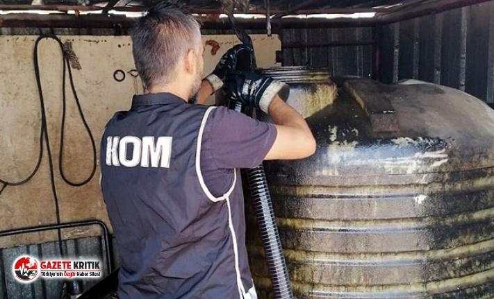 İzmir'de, 4 ton kaçak mazot ele geçirildi