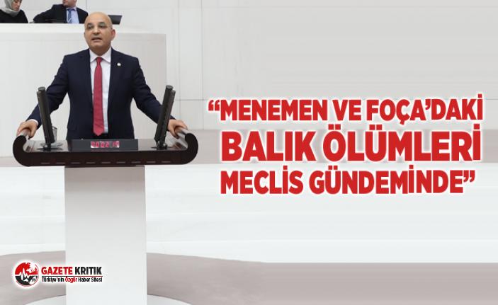 """""""MENEMEN VE FOÇA'DAKİ BALIK ÖLÜMLERİ MECLİS..."""