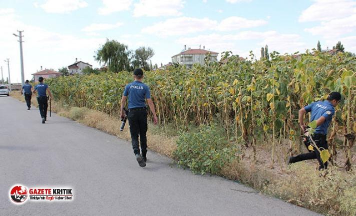 Polisten kaçan zanlı, drone ile yeri tespit edilerek...