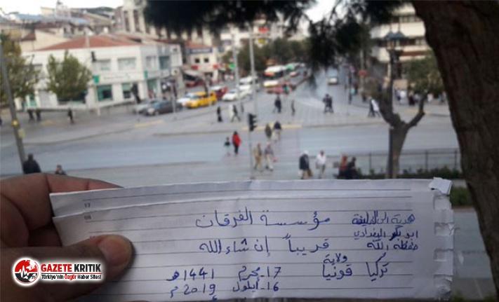 Sosyal medyadan Arapça bu notu paylaşmıştı! DEAŞ terör örgütü üyesi yakalandı