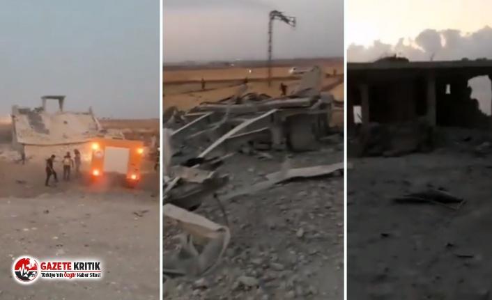 Suriye-Türkiye sınırındaki Çobanbey'de bombalı...