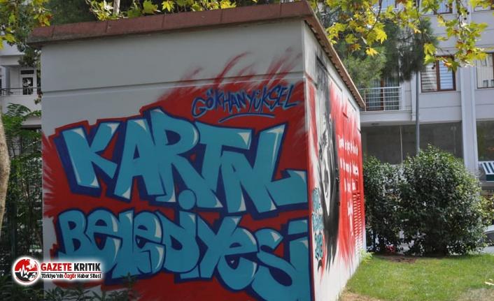 'Yaşasın Cumhuriyet' Graffitileri, Kartal'a...