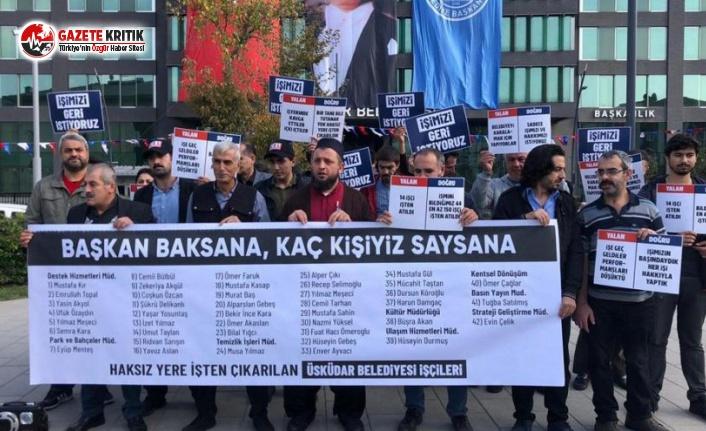 AKP'li Üsküdar Belediyesi İşçileri 7. Kez Eylemde