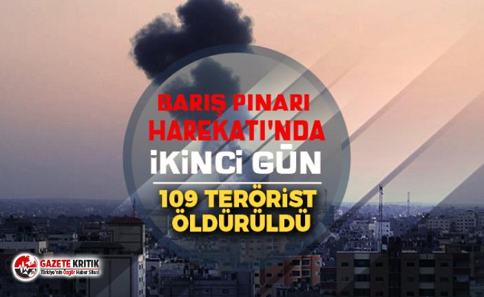 Barış Pınarı Harekatı'nda ikinci gün: 109...