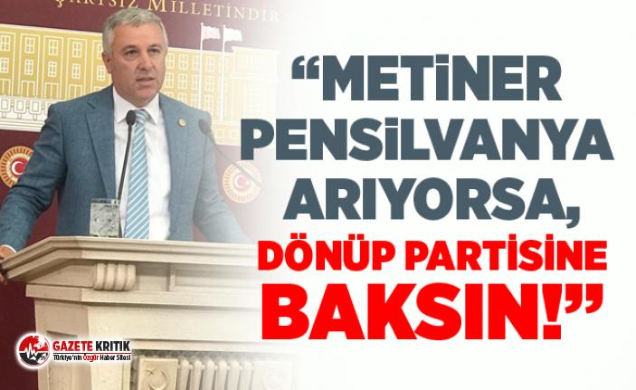 CHP'Lİ ÇETİN ARIK METİNER'İN SÖZLERİNİ...