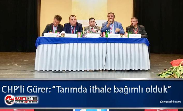 """CHP'li Gürer: """"Tarımda ithale bağımlı olduk"""""""