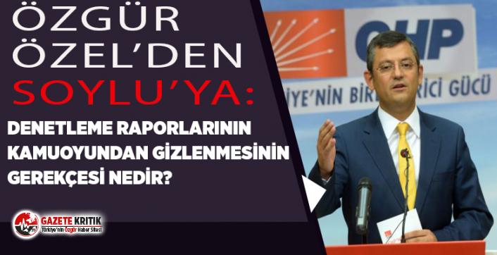 CHP'Lİ ÖZEL, BELEDİYE MECLİSLERİNDEN KAÇIRILAN...