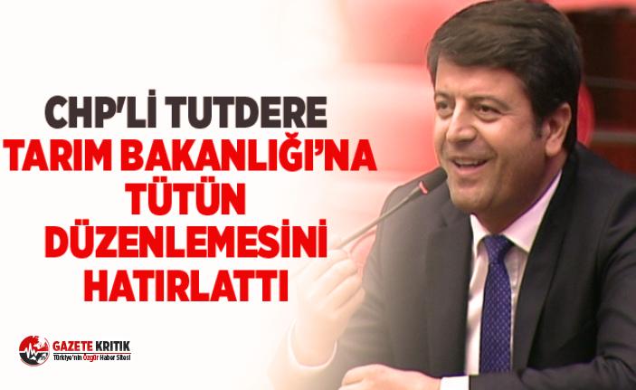 CHP'Lİ TUTDERE TARIM BAKANLIĞI'NA TÜTÜN...