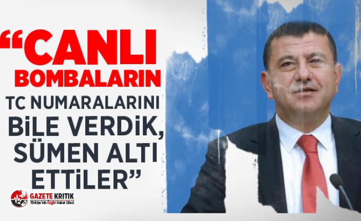 "CHP'Lİ VELİ AĞBABA; ""CANLI BOMBALARIN TC..."