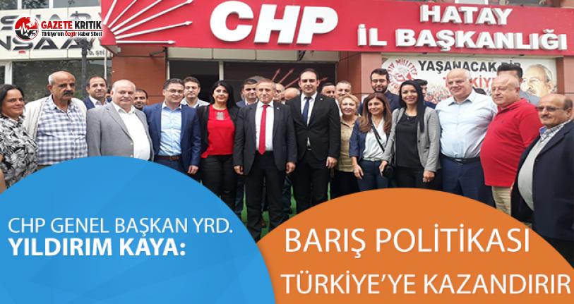 CHP'li Yıldırım Kaya:Barış Politikası Türkiye'ye kazandırır
