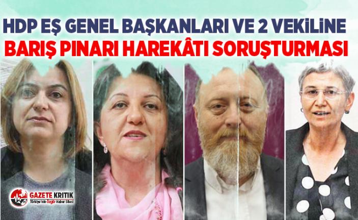 HDP eş genel başkanları ve 2 vekiline Barış Pınarı...