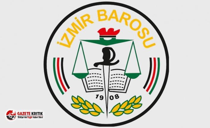 """İzmir Barosu'ndan """"Savaşa Hayır""""..."""