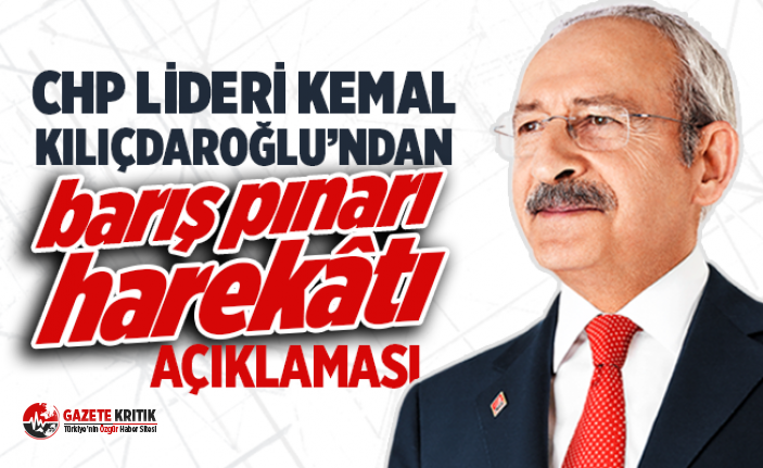 Kılıçdaroğlu'ndan 'Barış Pınarı...