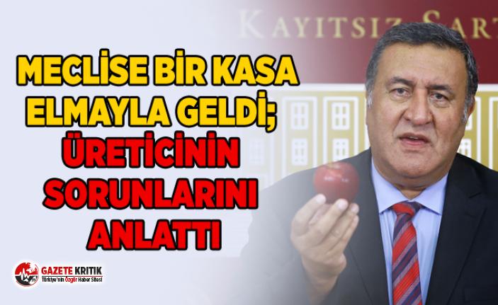 MECLİSE BİR KASA ELMAYLA GELDİ; ÜRETİCİNİN...