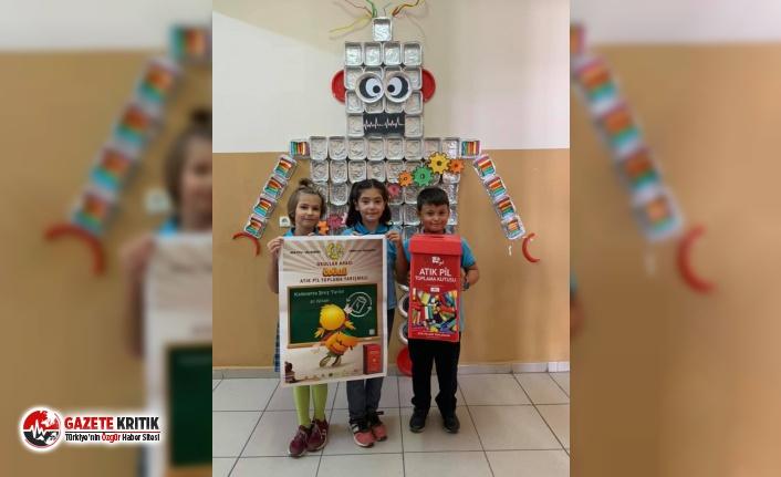 'Okullar Arası Ödüllü Atık Pil Toplama Yarışması'...