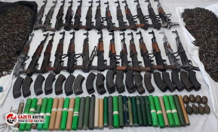 Tunceli'de teröristlerin cephaneliği ele geçirildi