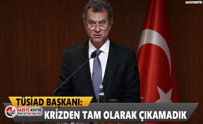 TÜSİAD Başkanı: Krizden tam olarak çıkamadık