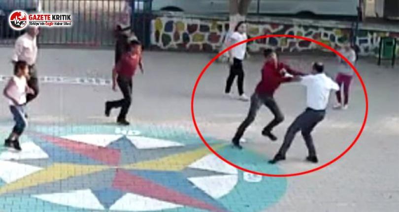 Veliler, Okul Bahçesinde Öğretmene Saldırdı