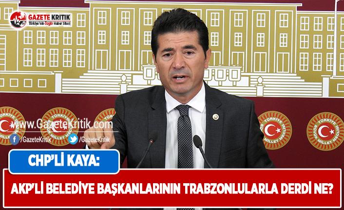AKP'li Belediye Başkanlarının Trabzonlular...