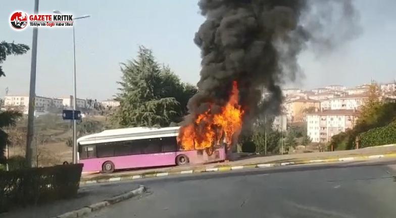 Belediye Otobüsü Alev Aldı!