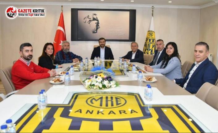 CHP, Ankaragücü'nü Ziyaret Etti