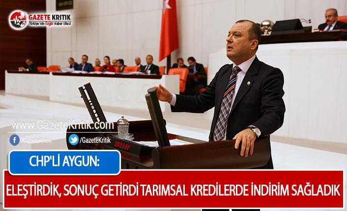 CHP'li Aygun: Tarım Kredilerinde Faiz İndirimini...