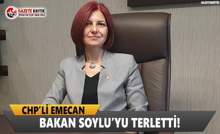 CHP'li Emecan, Bakan Soylu'yu Terletti