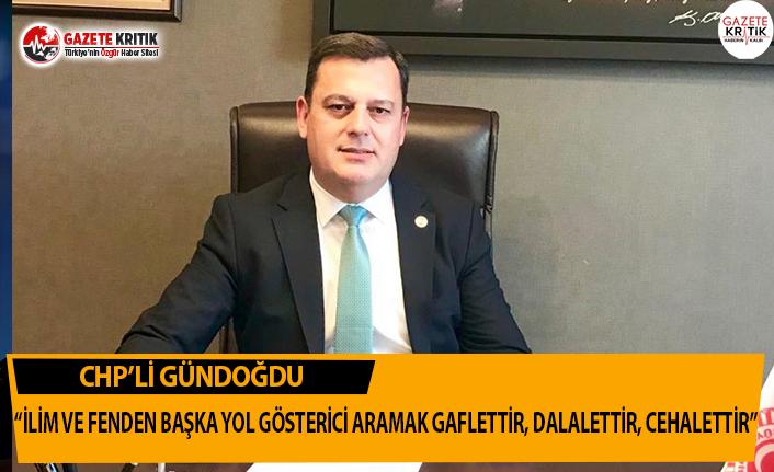 CHP'li Gündoğdu'nun 10 Kasım Mesajı