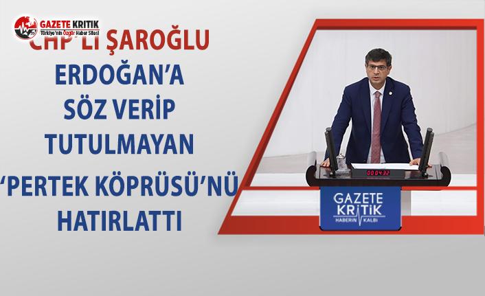 CHP'li Şaroğlu, Erdoğan'a 'Pertek...