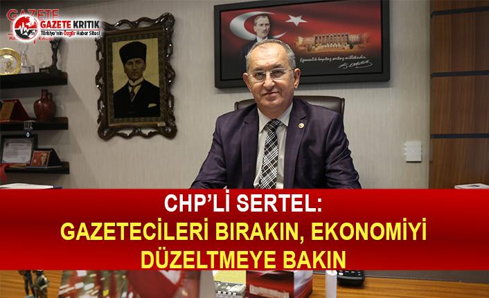 CHP'li Sertel: Gazetecileri Bırakın Ekonomiyi Düzeltmeye Bakın